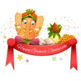 Ganesh Chaturthi heureux Photo libre de droits