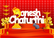 Ganesh Chaturthi wallpaper background Royalty Free Stock Images