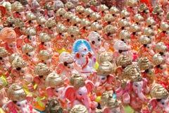Ganesh chaturthifestival i hyderabad, Indien Arkivbild