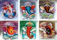 Ganesh collage stock photos