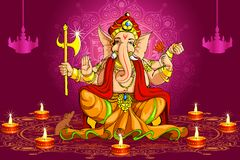 Ganesh and Deepawali. Vector illustration of Lord Ganesha for Deepawali vector illustration