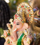 Ganesh ,elephant god, figure closeup Royalty Free Stock Images