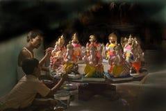 Ganesh en la fabricación Fotos de archivo libres de regalías