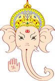 Ganesh Face giving Blessing. Ganesha (elephant God) Face giving Blessing Stock Photo