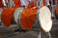 Ganesh Festival Drums arkivbilder