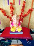 Ganpati Bappa. This is ganesh Festival ecofriendly Decoration stock photo