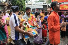 Ganesh Festival in Mumbai Royalty Free Stock Photo