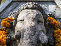 Ganesh with flowers Stock Photo