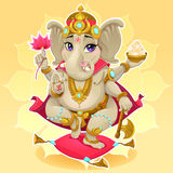 Ganesh. Funny representation of eastern god, vector cartoon illustration royalty free illustration