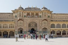 Ganesh Gate at Amber Fort near Jaipur Stock Photography