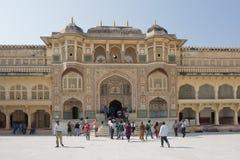 Ganesh Gate bei Amber Fort nahe Jaipur Stockfotografie
