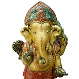 Ganesh god elephant god isolated white Royalty Free Stock Photos