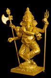 Ganesh Gold sculpture Royalty Free Stock Images