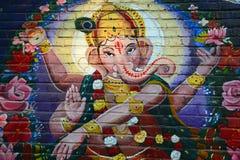 Ganesh Graffiti Fotografia de Stock Royalty Free