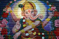 Ganesh Graffiti Royalty Free Stock Photography