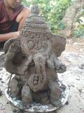 Ganesh hecho a mano de los pequeños niños Fotografía de archivo libre de regalías