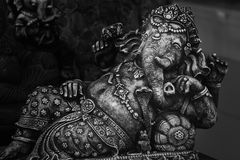 Ganesh hindu god statue in bali thailand. Background Stock Photography
