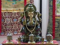 Ganesh. Hindu temple with a statue of Ganesh on the altar Royalty Free Stock Photo