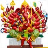Ganesh i rött. Royaltyfri Foto