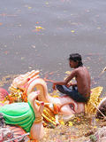 Ganesh Immersion-Hindu festival Stock Photo
