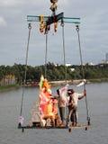 Ganesh Immersion-Hinduistisches Festival Lizenzfreie Stockbilder