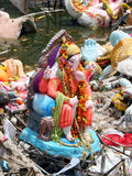 Ganesh Immersion-Water pollution Royalty Free Stock Photos