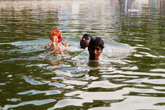 Ganesh immersja zdjęcia royalty free