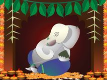 Ganesh indou de Dieu Images stock
