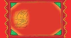 Ganesh on Invitation-card Royalty Free Stock Images