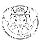 Ganesh logo - BW Stock Photography