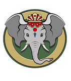 Ganesh logo - Colors Royalty Free Stock Image