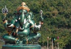 Ganesh. Lord Ganesh statues large green Royalty Free Stock Photo