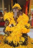 Ganesh met bloem Royalty-vrije Stock Afbeelding