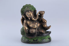 Ganesh. Metal statue depicting the Hindu god Ganesh Stock Photography