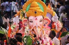 Ganesh nimajjan en Hyderabad, la India Foto de archivo libre de regalías