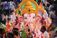 Ganesh nimajjan in hyderabad, India Royalty Free Stock Photo
