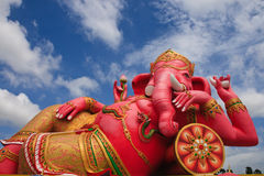 Ganesh Pang enjoy happiness Royalty Free Stock Images