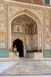 Ganesh Pol ad Amber Fort vicino a Jaipur, Ragiastan, India immagine stock