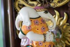 Ganesh Sacred som dyrkanen av det indiska folket i Hinduism arkivbild