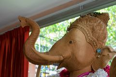 Ganesh Sacred som dyrkanen av det indiska folket i Hinduism arkivbilder