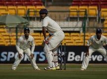 Ganesh Satish batting. Ganesh Satish of Karnataka bats during the ongoing Irani Cup game in Bangalore royalty free stock photos