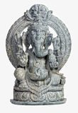 Ganesh sculpture. Classi stone sculpture of indian god ganesh on white Stock Photography