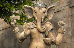 Ganesh sculpture. Ganesha's elephant head makes him particularly easy to identify, widely revered as the Remover of Obstacles and more generally as Lord of Stock Image