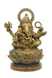 Ganesh Statue. A statue of Ganesh, isolated on white Royalty Free Stock Images