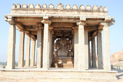 Ganesh statue in the ancient temple of Hampi Royalty Free Stock Photos