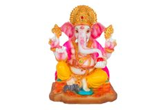 Ganesh statue with clipping path. Hindu god Ganesh with clipping path Stock Photo