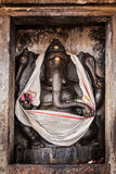 Ganesh statue in Hindu temple. Brihadishwarar Temple, Thanjavur, Royalty Free Stock Photos