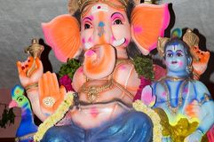 Ganesh statue in india temple Stock Images