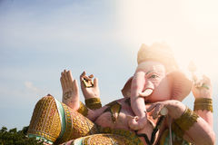Ganesh statue in Nakornnayok province of thailand. Royalty Free Stock Images