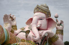 Ganesh statue pink color thai called Phra Pikanet at outdoor for Royalty Free Stock Image